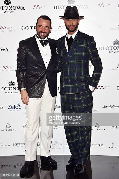 Alessandro Martorana And Jonathan Kashanian Attend Alessandro Martoranas Birthday Party On January   In Milan