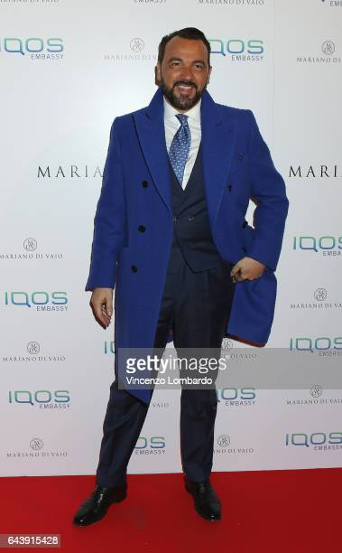 Alessandro Martorana attends a party for Mariano Di Vaio's blog on February 22 2017 in Milan Italy