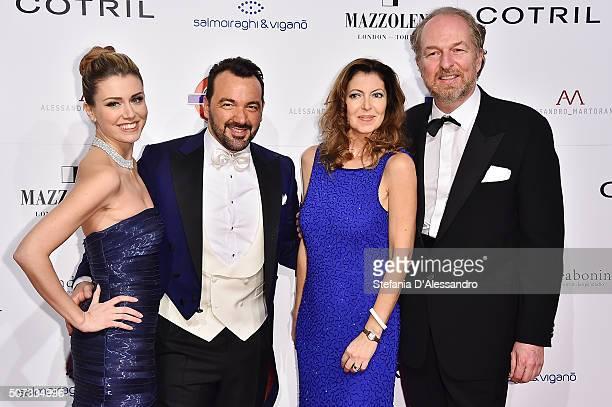 Alessandro Martorana Elena Barolo and Arturo Artom with his wife attend Alessandro Martorana Birthday Party held at La Permanente on January 28 2016...
