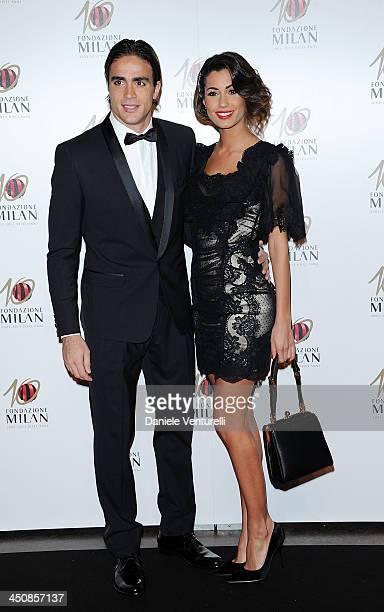 Alessandro Matri and Federica Nargi attend the Fondazione Milan 10th Anniversary Gala on November 20 2013 in Milan Italy