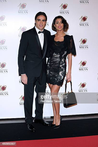 Alessandro Matri and Federica Nargi attend the Fondazione Milan 10th Anniversary Gala photocall on November 20 2013 in Milan Italy