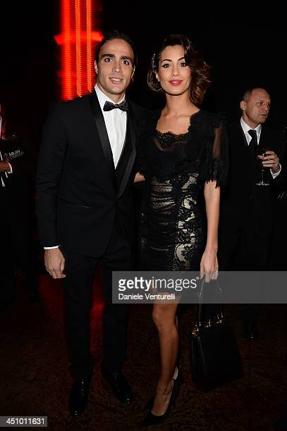Alessandro Matri and Federica Nargi attend the Fondazione Milan 10th Anniversary Gala on November 20 2013 in Milan Italy