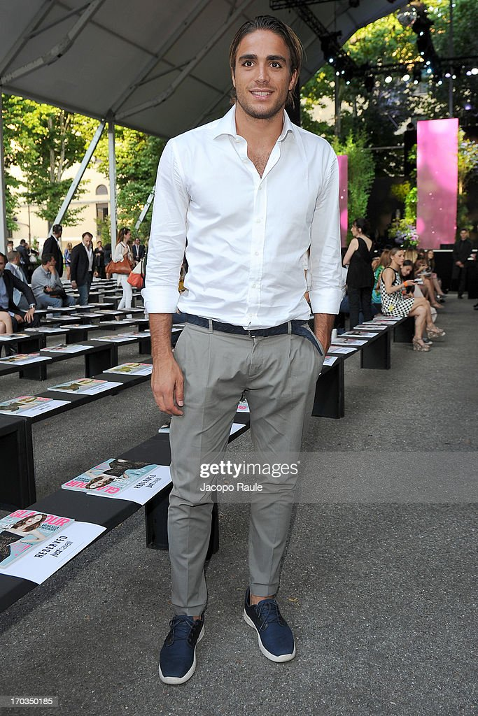 Alessandro Matri attends Glamour Live Show - Fashion Shows on June 11, 2013 in Milan, Italy.
