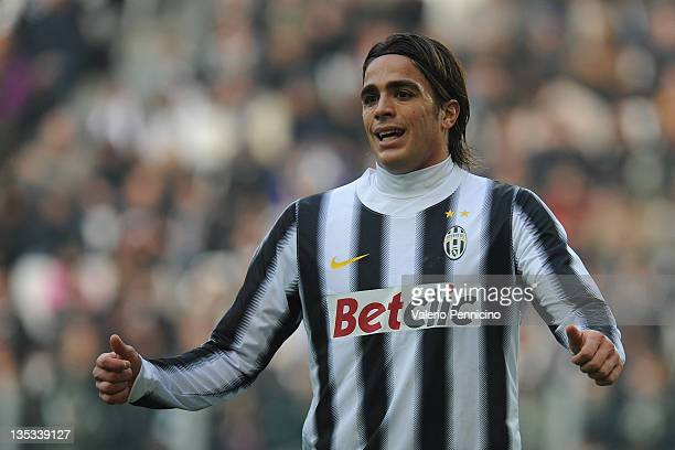 Alessandro Matri of Juventus FC looks on during the Serie A match between Juventus FC and AC Cesena at Juventus Stadium on December 4 2011 in Turin...