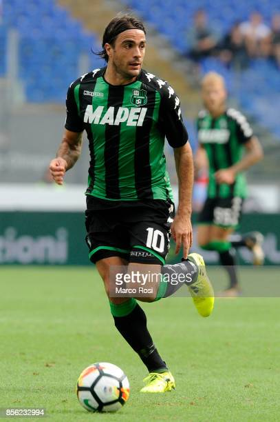 Alessandro Matri of Us Sassuolo in action during the Serie A match between SS Lazio and US Sassuolo at Stadio Olimpico on October 1 2017 in Rome Italy