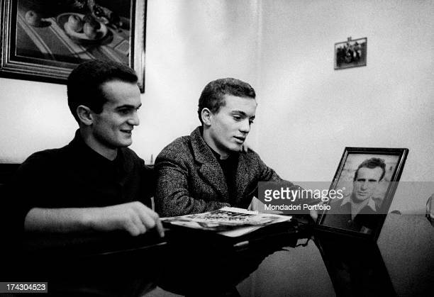 Alessandro Mazzola known as Sandrino looks at the camera sitting at a desk the son of the late Valentino Mazzola the former Turin captain who died in...