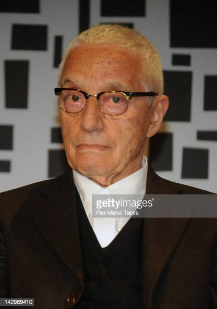 Alessandro Mendini Architect attends Interni Legacy press preview at Milan Design week on April 16 2012 in Milan Italy