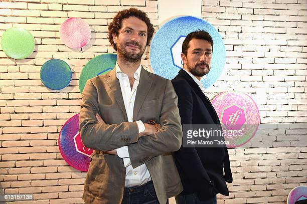 Alessandro Merletti De Palo and Giovanni Caloro pose at the IF Italians Festival 2016 at Franco Parenti Theater on October 7 2016 in Milan Italy