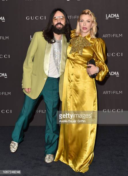 Alessandro Michele and Courtney Love attend the 2018 LACMA Art Film Gala at LACMA on November 03 2018 in Los Angeles California