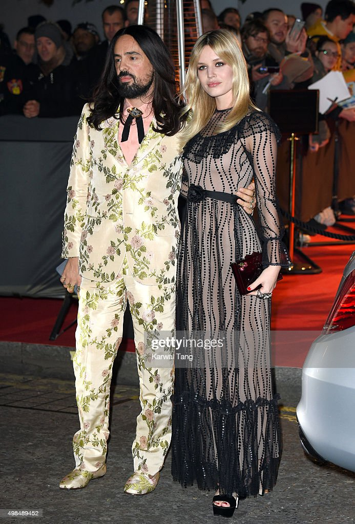 Alessandro Michele and Georgia May Jagger attend the British Fashion Awards 2015 at London Coliseum on November 23, 2015 in London, England.