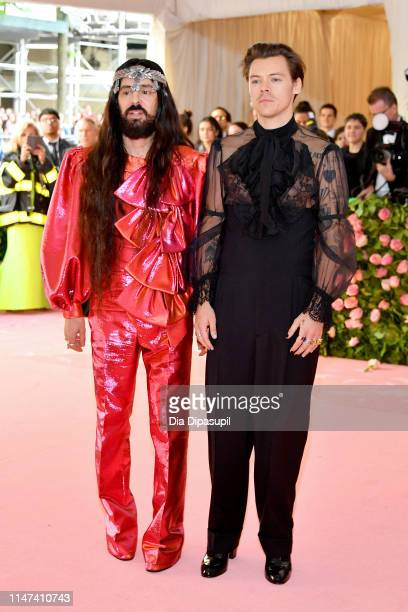 Alessandro Michele and Harry Styles attend The 2019 Met Gala Celebrating Camp Notes on Fashion at Metropolitan Museum of Art on May 06 2019 in New...