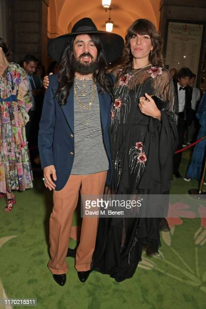 Alessandro Michele and Lou Doillon wearing Gucci attend The Green Carpet Fashion Awards Italia 2019 hosted by CNMI EcoAge at Teatro Alla Scala on...