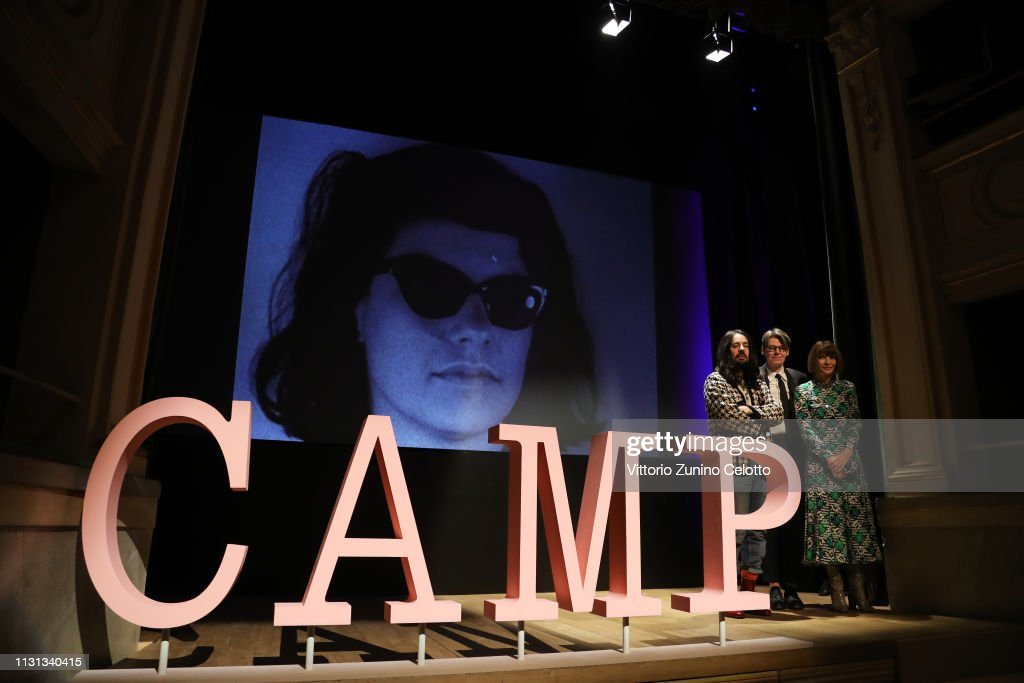 """Press event for The Costume Institute's spring 2019 exhibition """"Camp: Notes on Fashion"""" : News Photo"""