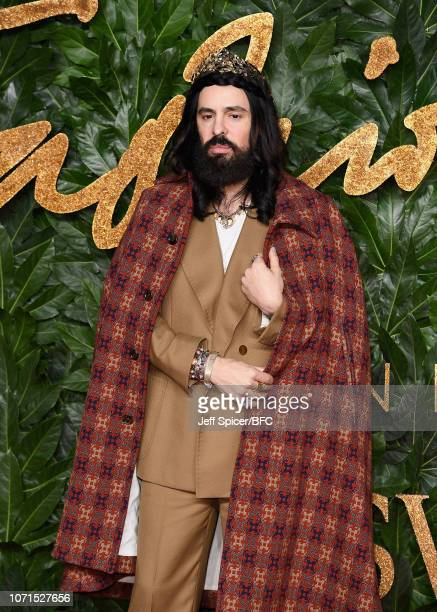 Alessandro Michele arrives at The Fashion Awards 2018 In Partnership With Swarovski at Royal Albert Hall on December 10 2018 in London England