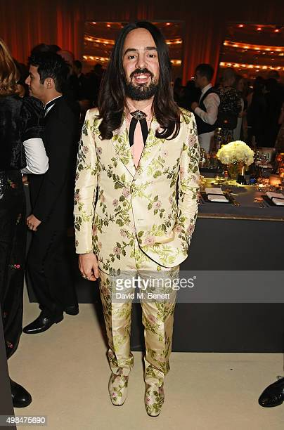 Alessandro Michele attends a drinks reception at the British Fashion Awards in partnership with Swarovski at the London Coliseum on November 23 2015...