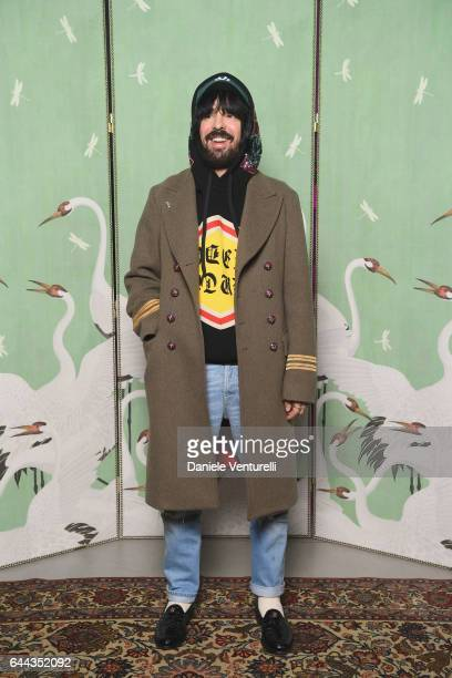 Alessandro Michele attends Gucci Eyewear Cocktail Party during Milan Fashion Week Fall/Winter 2017/18 on February 23 2017 in Milan Italy
