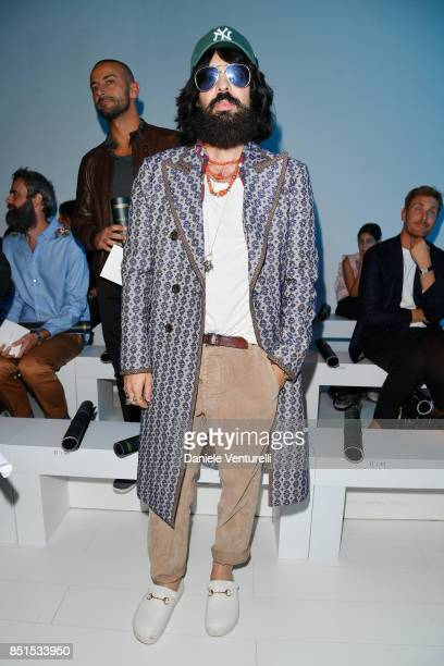 Alessandro Michele attends the Versace show during Milan Fashion Week Spring/Summer 2018 on September 22 2017 in Milan Italy