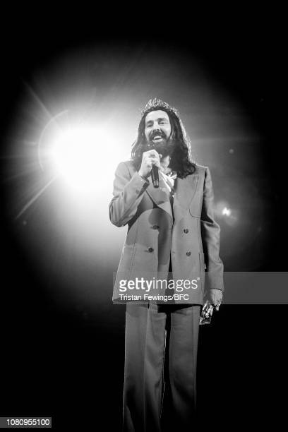 Alessandro Michele for Gucci winner of Brand of the Year on stage during The Fashion Awards 2018 In Partnership With Swarovski at Royal Albert Hall...