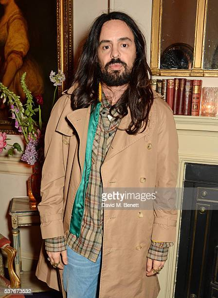 Alessandro Michele Gucci Creative Director attends the Gucci party at 106 Piccadilly in celebration of the Gucci Cruise 2017 fashion show on June 2...