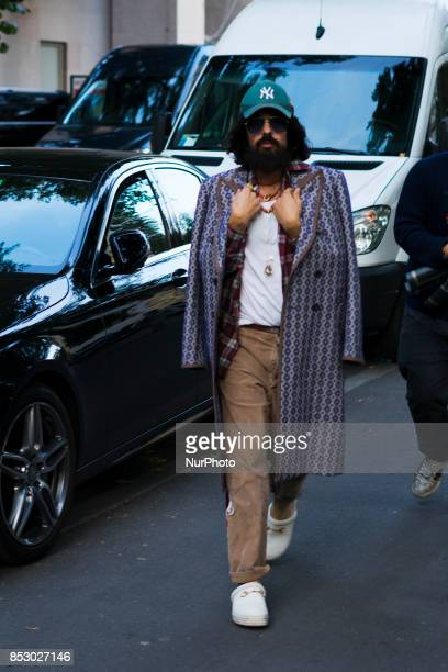 Alessandro Michele in the street after Versace fashion show S/S 2018 in Milan Italy on 22 September 2017