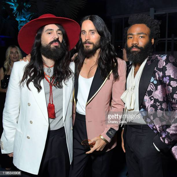 Alessandro Michele Jared Leto and Donald Glover all wearing Gucci attend the 2019 LACMA Art Film Gala Presented By Gucci at LACMA on November 02 2019...
