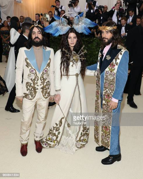 Alessandro Michele Lana Del Rey and Jared Leto attend 'Heavenly Bodies Fashion the Catholic Imagination' the 2018 Costume Institute Benefit at...