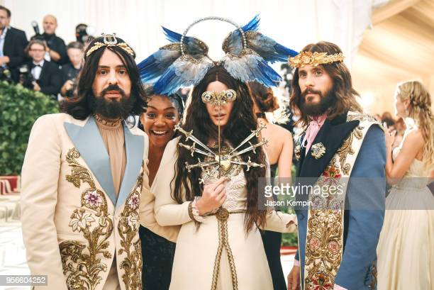 Alessandro Michele Lana del Rey and Jared Leto attend the Heavenly Bodies Fashion The Catholic Imagination Costume Institute Gala at The Metropolitan...