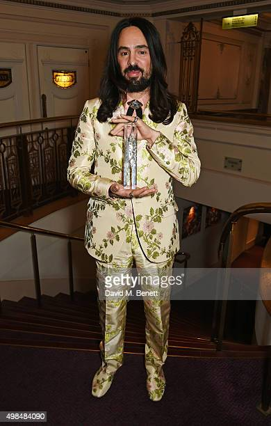 Alessandro Michele winner of the International Designer Award attends the British Fashion Awards in partnership with Swarovski at the London Coliseum...
