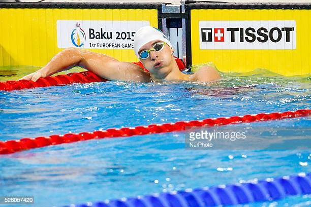 Alessandro Miressi of Italy competes in the Men's 200m Freestyle heat 5 during the Baku 2015 European Games at the Baku Aquatics Centre on June 26...