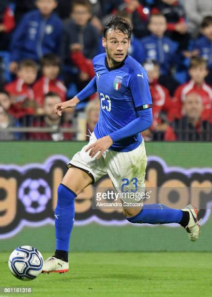 Alessandro Murgia of Italy U21 in action during the international friendly match between Italy U21 and Morocco U21 at Stadio Paolo Mazza on October...