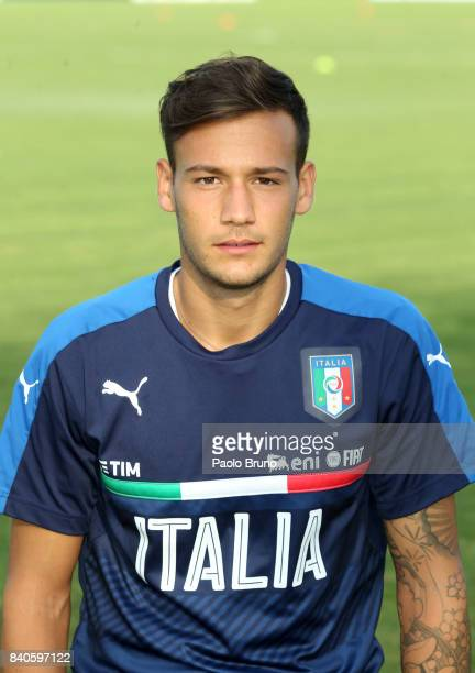 Alessandro Murgia of Italy U21 poses during the Italy U21 training session on August 29 2017 in Rome Italy