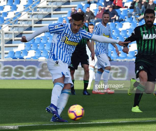Alessandro Murgia of SPAL in action during the Serie A match between US Sassuolo and SPAL at Mapei Stadium Citta' del Tricolore on February 24 2019...