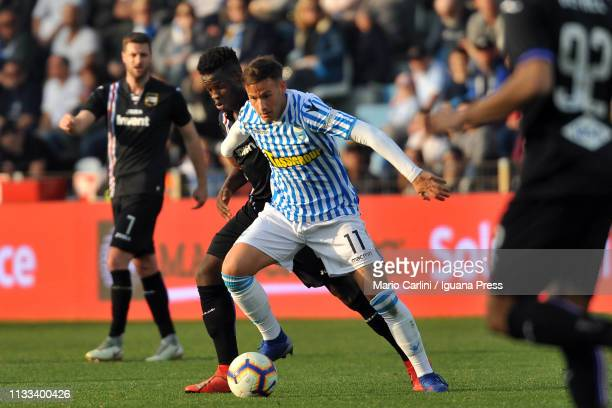 Alessandro Murgia of SPAL in action during the Serie A match between SPAL and UC Sampdoria at Stadio Paolo Mazza on March 03 2019 in Ferrara Italy