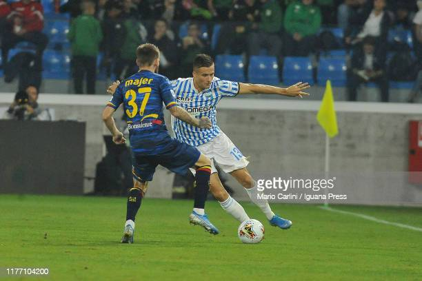 Alessandro Murgia of SPAL in action during the Serie A match between SPAL and US Lecce at Stadio Paolo Mazza on September 25 2019 in Ferrara Italy