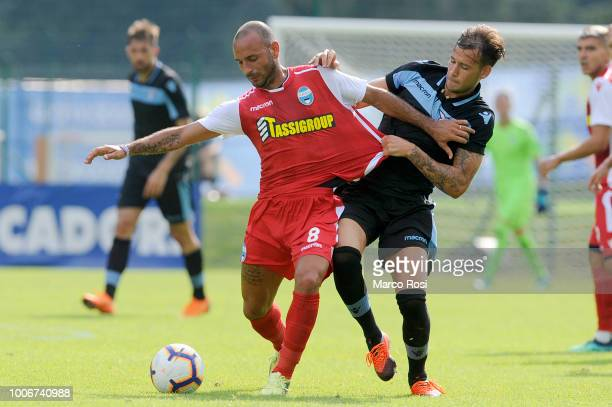 Alessandro Murgia of SS Lazio compete for the ball with Pasquale Schiattarella of Spal during the preseason friendly match between SS Lazio and Spal...