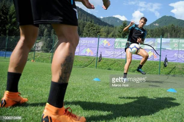 Alessandro Murgia of SS Lazio during the SS Lazio preseason training camp on July 27 2018 in Auronzo di Cadore near Belluno Italy