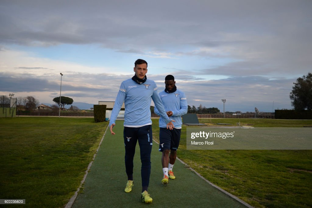 Alessandro Murgia of SS Lazio during the SS Lazio training session on the eve of their UEFA Europa Match against Steaua Bucharest on February 21, 2018 in Rome, Italy.