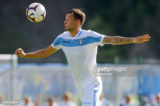 Alessandro Murgia of SS Lazio gets ready to control the ball during the preseason friendly match between SS Lazio and Triestina on July 25 2018 in...