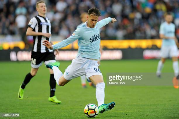 Alessandro Murgia of SS Lazio in acion during the serie A match between Udinese Calcio and SS Lazio at Stadio Friuli on April 8 2018 in Udine Italy