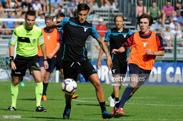 Alessandro Murgia of SS Lazio in action during the preseason friendly match between SS Lazio and Auronzo di Cadore on July 18 2018 in Auronzo di...