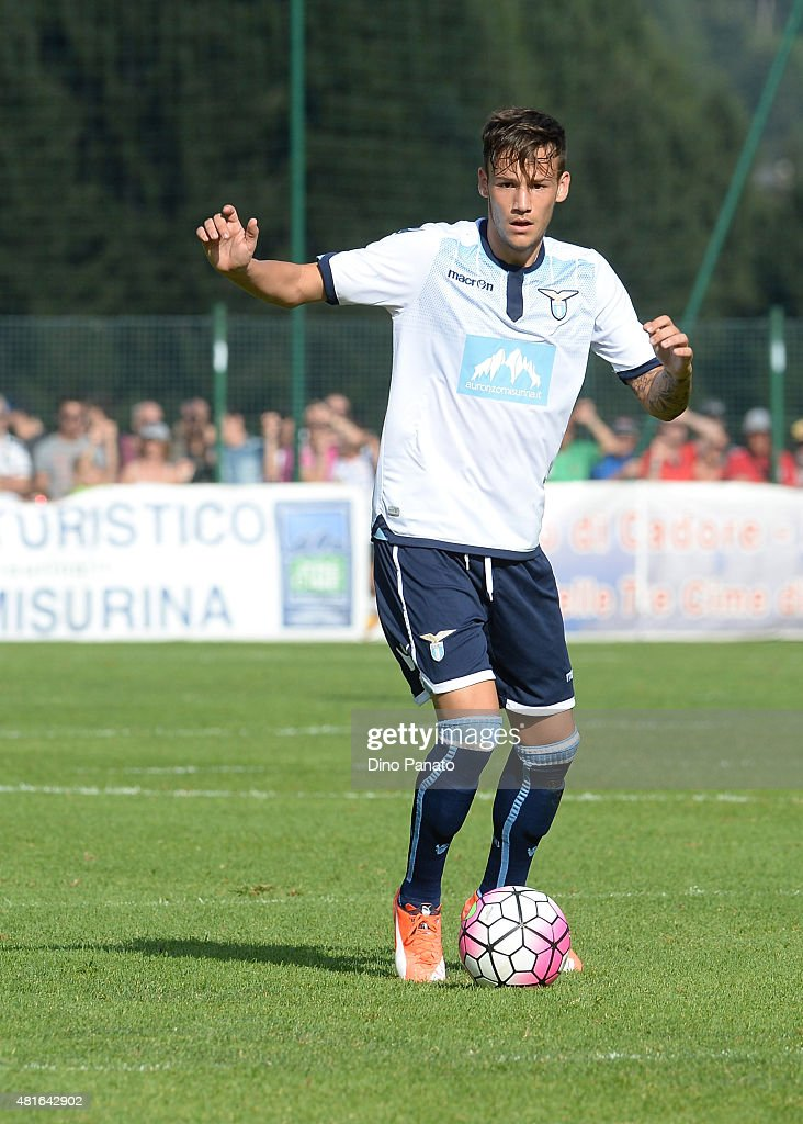 Alessandro Murgia of SS Lazio in action during the preseason friendly match between SS Lazio and Vicenza Calcio on July 18, 2015 in Auronzo near Cortina d'Ampezzo, Italy.