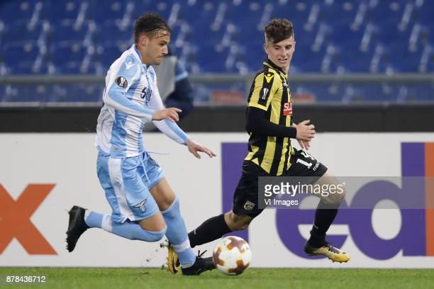 Alessandro Murgia of SS Lazio Mason Mount of Vitesse during the UEFA Europa League group K match between SS Lazio and Vitesse Arnhem at Stadio...