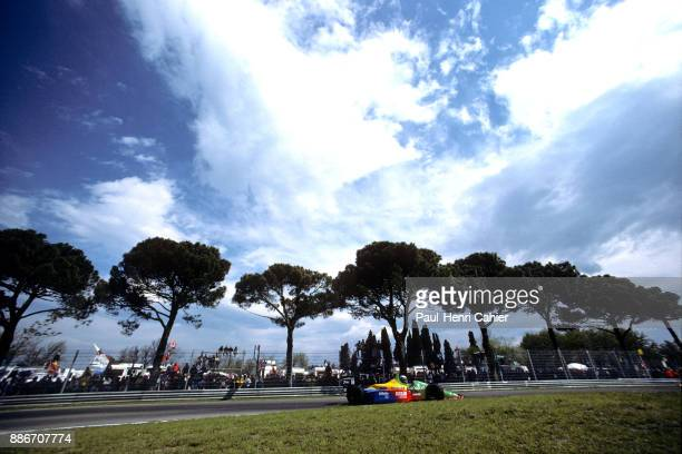 Alessandro Nannini, Benetton-Ford B188, Grand Prix of San Marino, Autodromo Dino Ferrari, Imola, 23 April 1989.