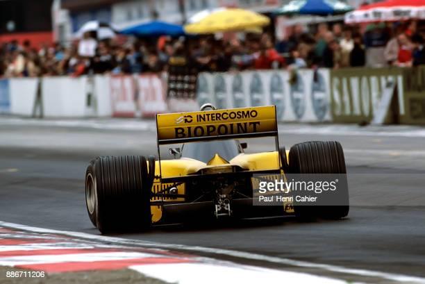 Alessandro Nannini MinardiMotori Moderni M185 Grand Prix of San Marino Autodromo Dino Ferrari Imola 27 April 1986 Alessandro Nannini gets his Minardi...