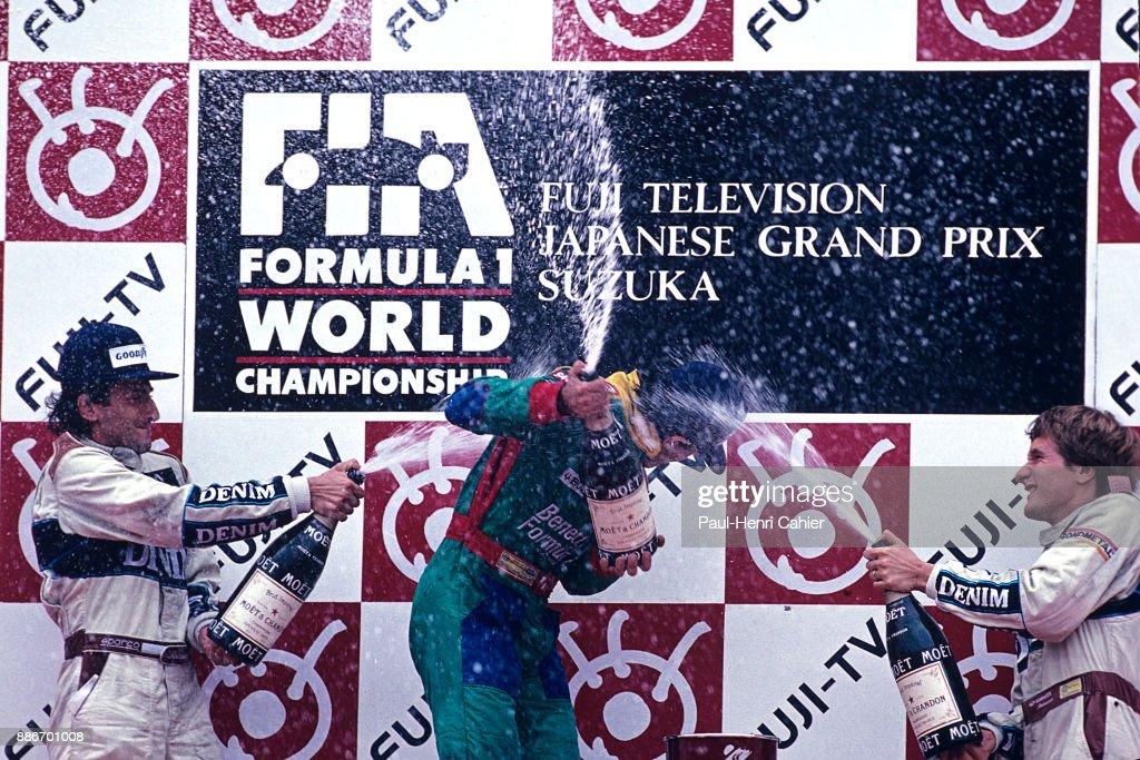 Alessandro Nannini, Ricardo Patrese, Thierry Boutsen, Grand Prix Of Japan : News Photo