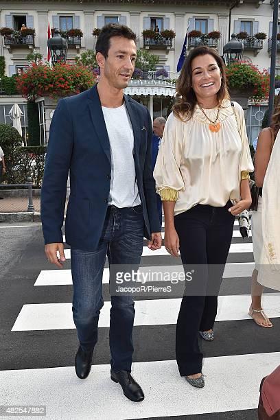 Alessandro Nasi and Alena Seredova are seen on July 31 2015 in Stresa Italy