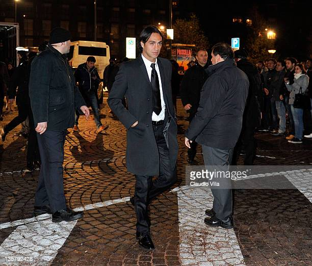 Alessandro Nesta attends the AC Milan Christmas Party at the Royal Pavilion at the Central Station on December 14 2011 in Milan Italy