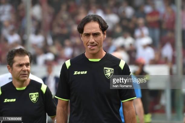 Alessandro Nesta coach of Frosinone Calcio during the Serie B match between Salernitana and Frosinone at Stadio Arechi on October 06 2019 in Salerno...