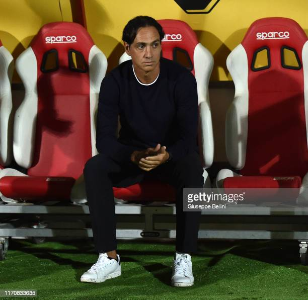 Alessandro Nesta head coach of Frosinone during the Serie B match between AC Perugia and Frosinone at Stadio Renato Curi on September 24, 2019 in...