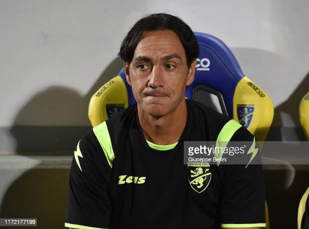 Alessandro Nesta head coach of Frosinone during the Serie B match between Frosinone and Ascoli Calcio at Stadio Benito Stirpe on September 1, 2019 in...